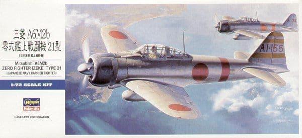 Hasegawa 1/72 Mitsubishi A6M2b 'Zero' Type 21 'Zeke' # D21
