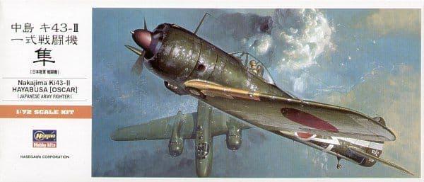 Hasegawa 1/72 Nakajima Ki-43-II Oscar 'Hayabusa' Japanese Army Fighter # A01