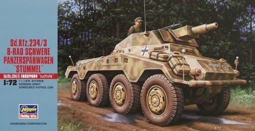 Hasegawa /72 German Sd.Kfz.234/3 8-Rad Schwere Panzerspahwagen 'Stummel' # MT054
