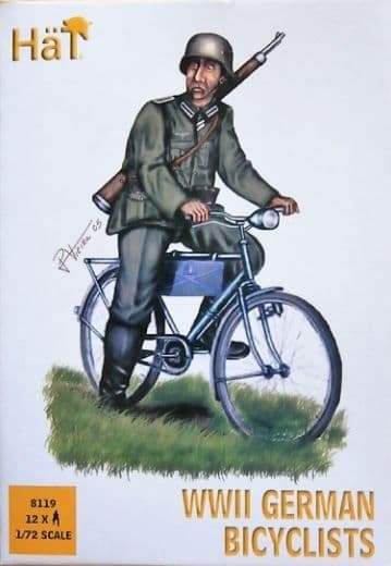 Hat 1/72 German (WWII) Infantry on Bicycles # 8119