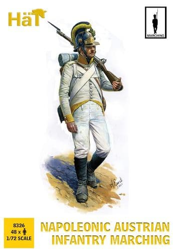 HaT 1/72 Napoleonic Austrian Infantry Marching # 8326