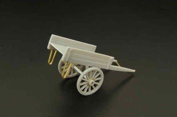 Hauler 1/72 Wooden 2 Wheeled Trolley Resin Kit # 72041