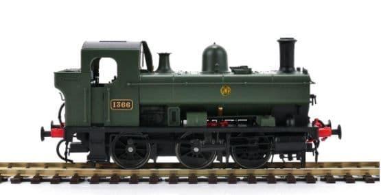 Heljan OO Gauge GWR 0-6-0PT 1366 Green Monogram Logo # 1320