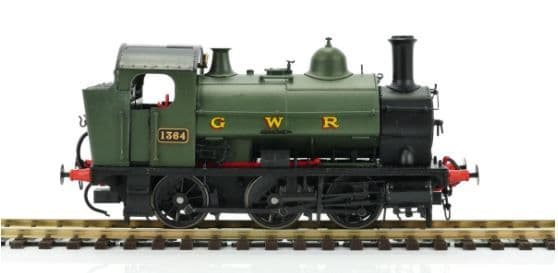 Heljan OO Gauge GWR 0-6-0ST 1364 GWR Green (G W R Lettering) # 1302