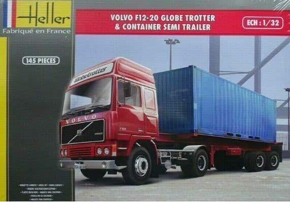Heller 1/32 Volvo F12-20 Globe Trotter & Container Semi-Trailer # 81702