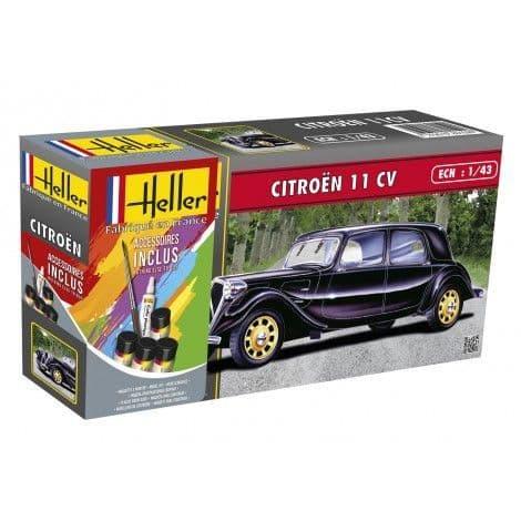Heller 1/43 Citroen 11 CV Gift Set # 56159