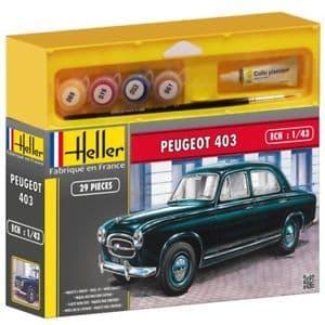 Heller 1/43 Peugeot 403 Gift Set # 56161