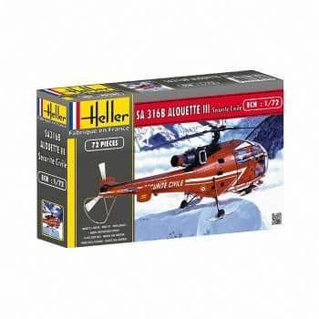 Heller 1/72 Alouette III Securite Civile # 80289