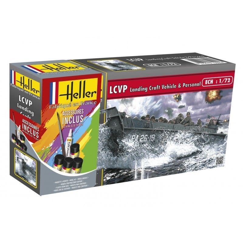 Heller 1/72 LCVP Landing Craft Vehicle & Personnel Gift Set # 56995
