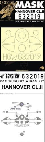 HGW 1/32 HANNOVER Cl.II Paint Mask # 632019