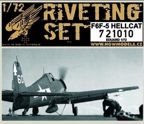 HGW 1/72 Grumman F6F-5 Hellcat Riveting Set # 721010
