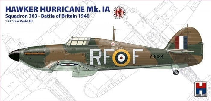 Hobby 2000 1/72 Hawker Hurricane Mk.IA Squadron 303 - Battle of Britain 1940 # 72001