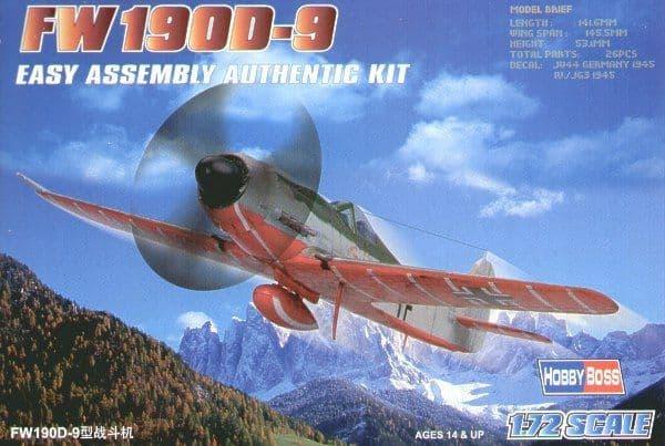 Hobby Boss 1/72 Focke Wulf Fw190D-9 Easy Assembly # 80228