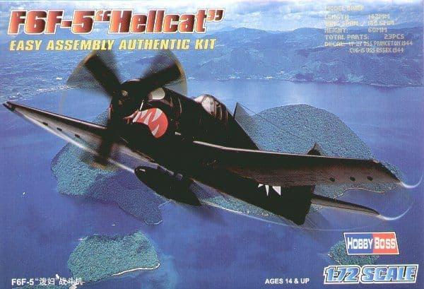Hobby Boss 1/72 Grumman F6F-5 Hellcat Easy Assembly # 80260