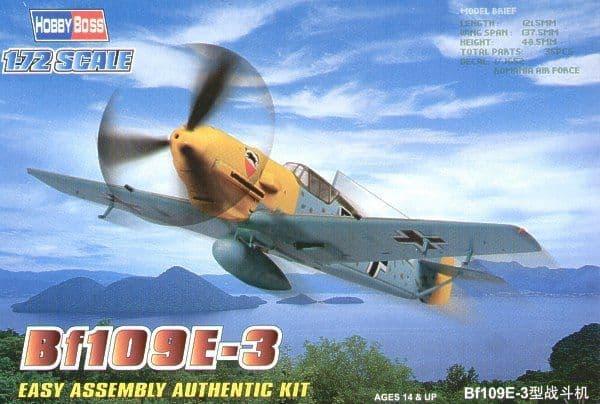 Hobby Boss 1/72 Messerschmitt Bf109E-3 Easy Assembly # 80253