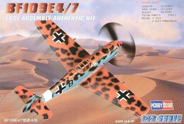 Hobby Boss 1/72 Messerschmitt Bf109E-4/7 Easy Assembly # 80254