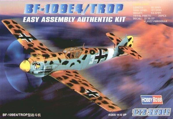 Hobby Boss 1/72 Messerschmitt Bf109E-4 Trop Easy Assembly # 8026