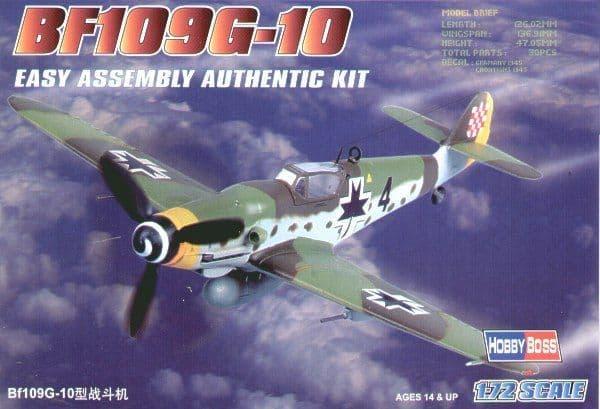 Hobby Boss 1/72 Messerschmitt Bf109G-10 Easy Assembly # 80227