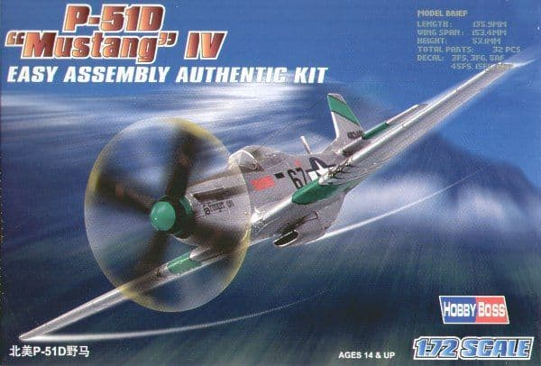 Hobby Boss 1/72 North American P-51D Mustang IV Easy Assembly #