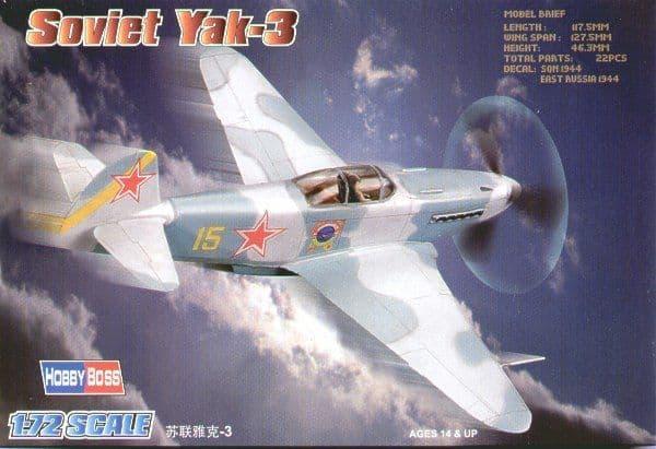 Hobby Boss 1/72 Yakovlev Yak-3 Easy Assembly # 80255