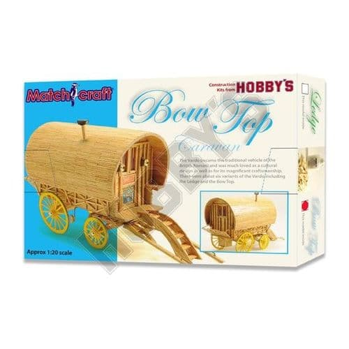 Hobby's Matchcraft - Bow Top Caravan Matchstick Kit # 11496
