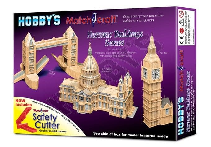 Hobby's Matchcraft - St. Pauls Cathedral Matchstick Kit # 11537