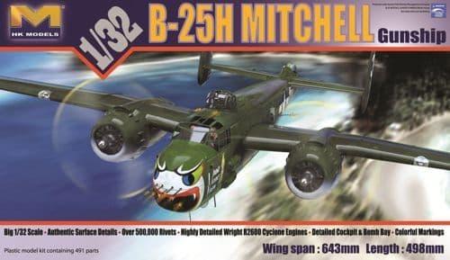 Hong Kong Models 1/32 North-American B-25H Mitchell # 01E03