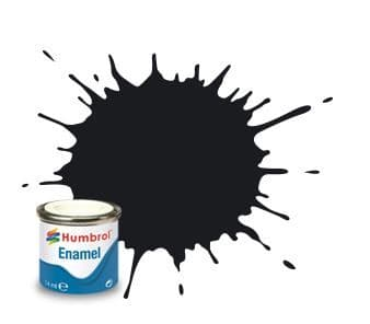 Humbrol 14ml Gloss Black enamel paint # 21