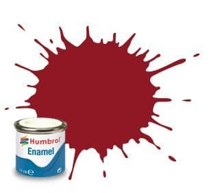 Humbrol 14ml Gloss Crimson enamel paint # 20