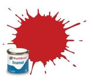 Humbrol 14ml Gloss Ferrari Red enamel paint # 220