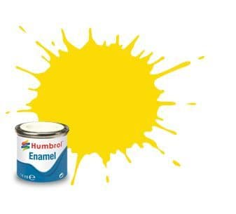 Humbrol 14ml Gloss Yellow enamel paint # 69