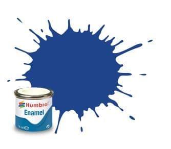 Humbrol 14ml Matt Blue enamel paint # 25