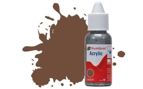 Humbrol 14ml Matt Chocolate Dropper Bottle Acrylic Paint # 98
