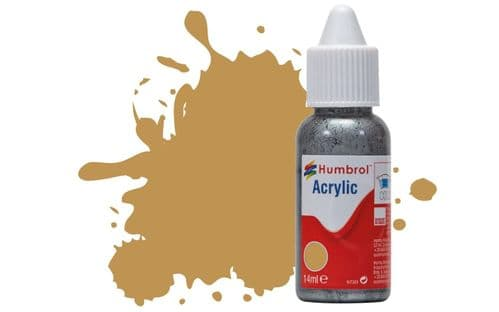 Humbrol 14ml Matt Desert Yellow Dropper Bottle Acrylic Paint # 93