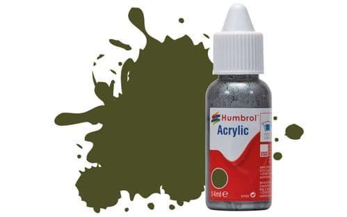 Humbrol 14ml Matt Olive Drab Dropper Bottle Acrylic Paint # 155