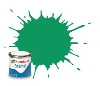 Humbrol 14ml Metallic Green Mist enamel paint # 50