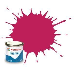 Humbrol 14ml Metallic Sunset Red enamel paint # 51