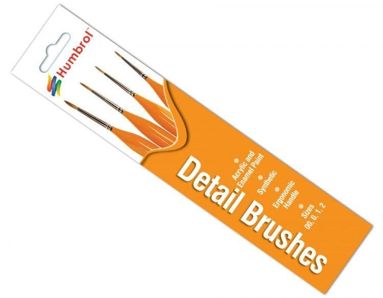 Humbrol Synthetic Detail Brush Pack # AG4301