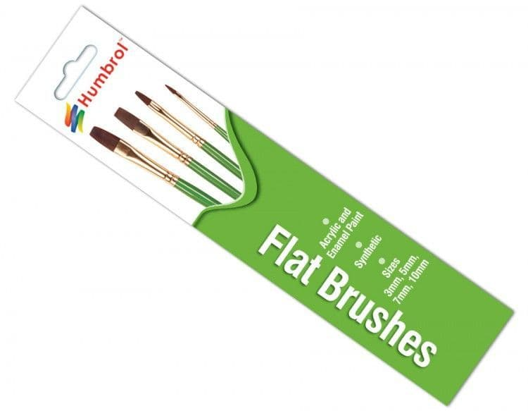 Humbrol Synthetic Flat Brush pack # AG4302