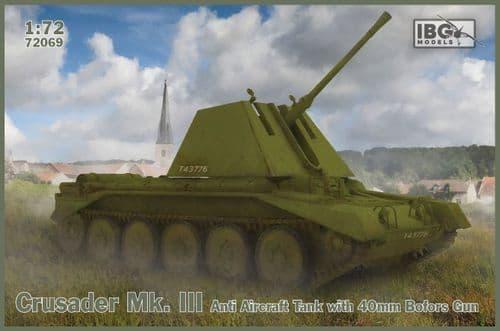 IBG 1/72 Crusader Mk.III Anti Aircraft Tank with 40mm Bofors Gun # 72069