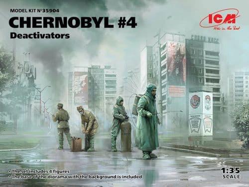ICM 1/35 Chernobyl #4 Deactivators (4 figures) # 35904