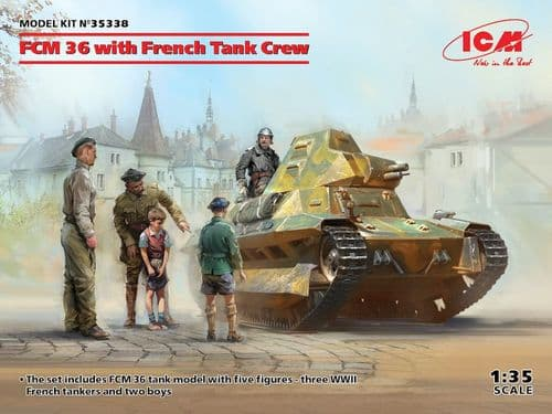 ICM 1/35 FCM 36 with French Tank Crew # 35338