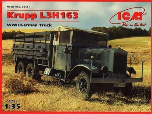 ICM 1/35 Krupp L3H163 WWII German Army Truck # 35461