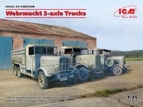 ICM 1/35 Wehrmacht 3-axle Trucks Diorama Set # DS3508