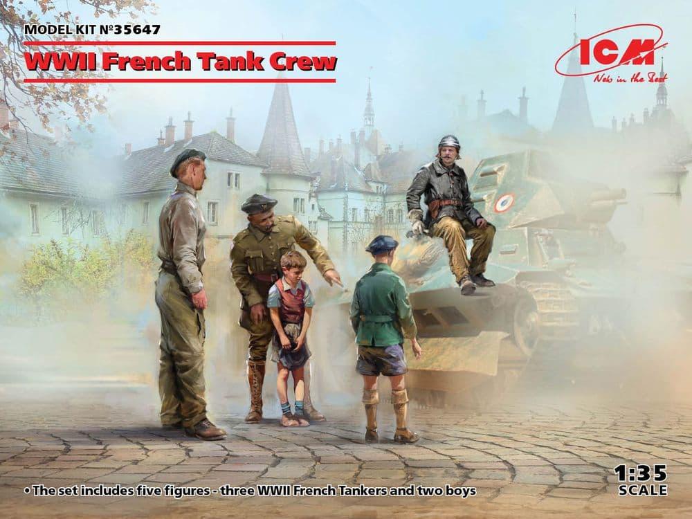 ICM 1/35 WWII French Tank Crew # 35647