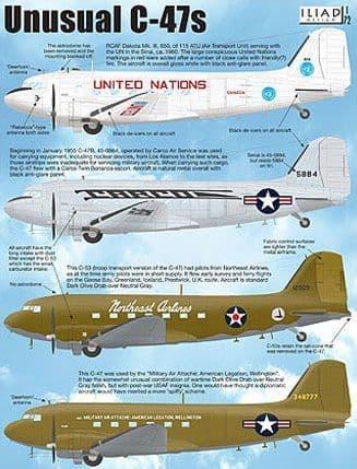 Iliad Design 1/72 Unusual Douglas C-47s # 72020