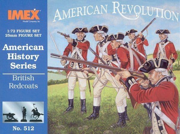 Imex 1/72 American Revolution British Redcoats # 512