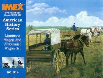 Imex 1/72 Munitions Wagon and Ambulance Wagon # 514