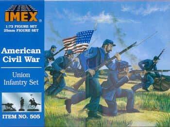 Imex 1/72 Union Infantry American Civil War # 505