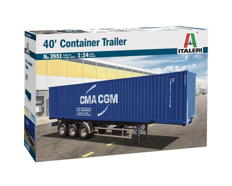 Italeri 1/24 40' Container Trailer # 3951